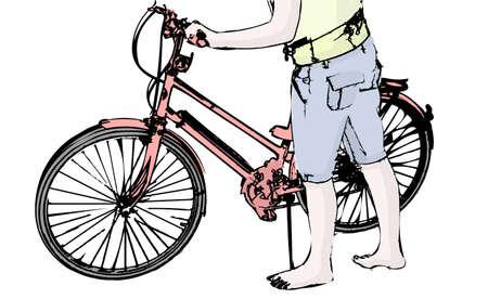 Un cycliste Banque d'images - 6215793
