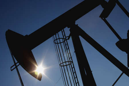 oil and gas industry: An oil derrick Stock Photo