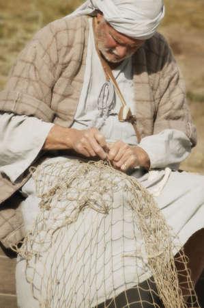 glubish: Fisherman with net