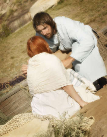 arrepentimiento: Jesús habla a una mujer