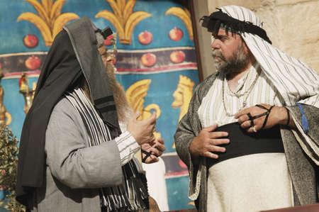 Two men talking Stock Photo