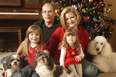 A family Christmas portrait Stock Photo - 5686356