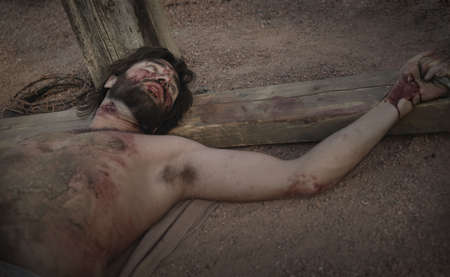 a righteous person: Jesus on the cross