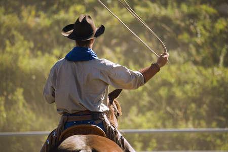 Cowboy with lasso Reklamní fotografie
