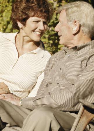 glubish: Couple sitting Stock Photo