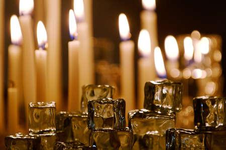 muz: Lit candles Stock Photo