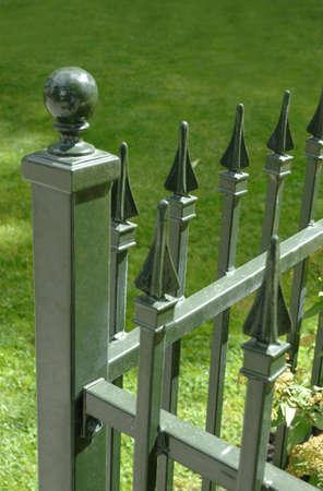 fence: Iron fence Stock Photo