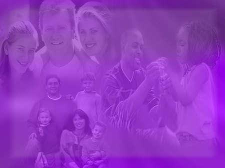 familia unida: Collage de los valores familiares