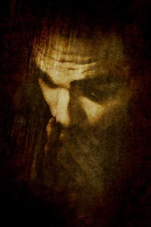 arrepentimiento: Hombre rezando