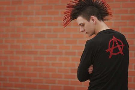 goth: Teenager with mohawk