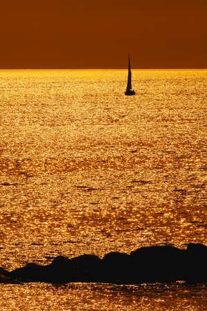 dean lake: Sailboat Stock Photo