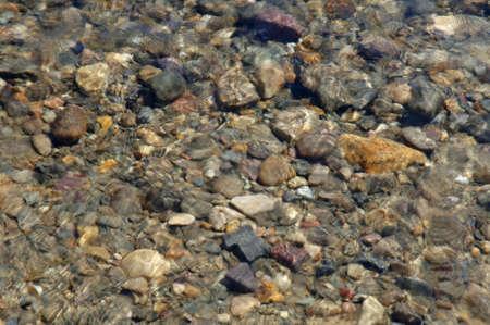 muz: Pebbles under water Stock Photo