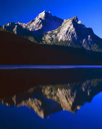 sawtooth national forest: Early morning in the Sawtooth Range, Sawtooth National Forest