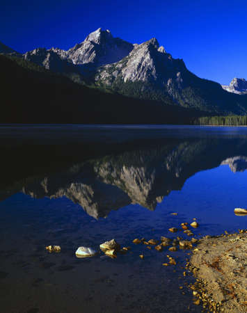 sawtooth national forest: Mountain reflections in lake, Sawtooth National Forest