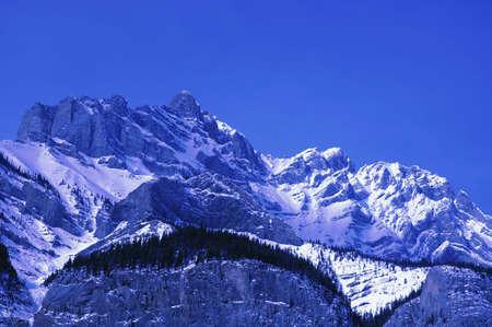 Snow-capped mountain range Stock Photo