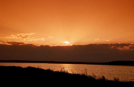 tanasiuk: Scenic sunset Stock Photo