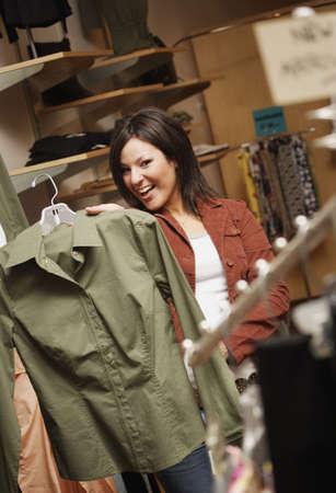Woman Clothes Shopping Zdjęcie Seryjne