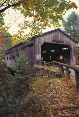 natural selection: Bissell covered bridge Stock Photo