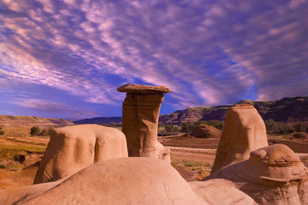 Hoodoos in the Badlands Stock Photo - 5696047