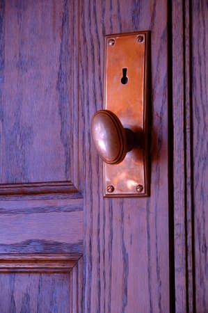 muz: Closed door Stock Photo