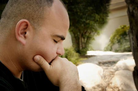 Man in deep thought Stock Photo - 5694389