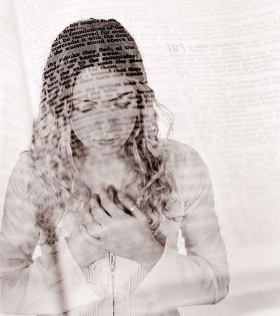 belief systems: Praying with Bible overlay