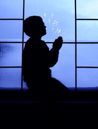 child praying: Child praying