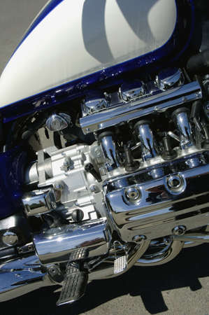 Closeup of motorcycle photo