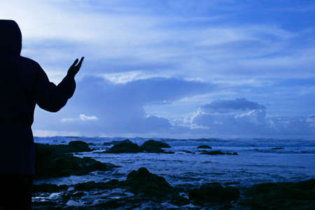 Worship at seashore photo
