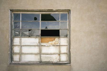 rundown: Run-down window Stock Photo