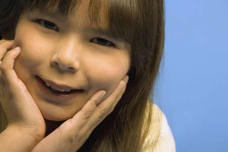 darren: Young girl posing Stock Photo