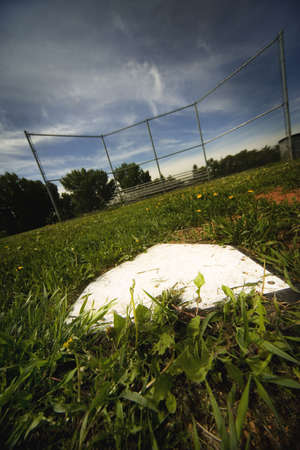 darren: Empty baseball field Stock Photo