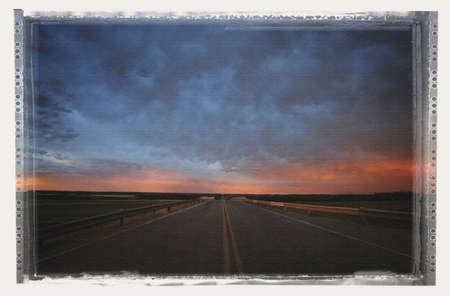 glubish: Straight highway Stock Photo