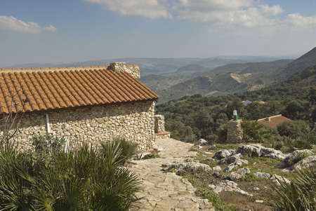 mountainside: Mountain-side home