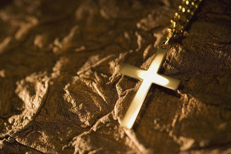 background textures: Cross on textured background Stock Photo