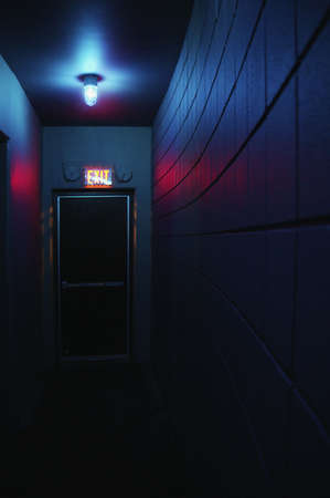Dark hallway and exit Stock Photo - 6217088