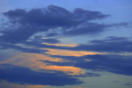 muz: Sunset clouds Stock Photo