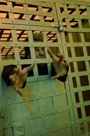 Man raging Behind bars Stock Photo - 6217224