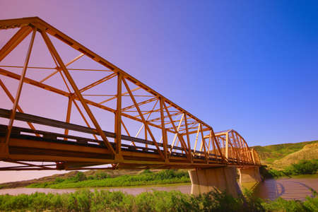 don hammond: Bridge in Alberta Stock Photo