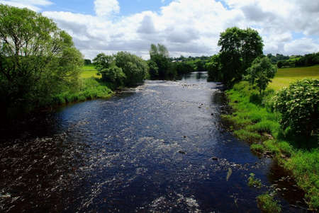 distantly: River Mourne, Co. Tyrone, Ireland