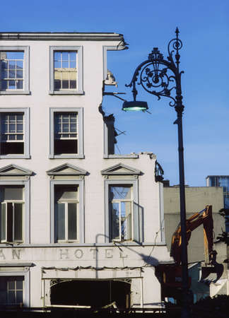 Historic Dublin, Demolition of Hibernian Hotel, 1991, Ireland Stock Photo - 7188366