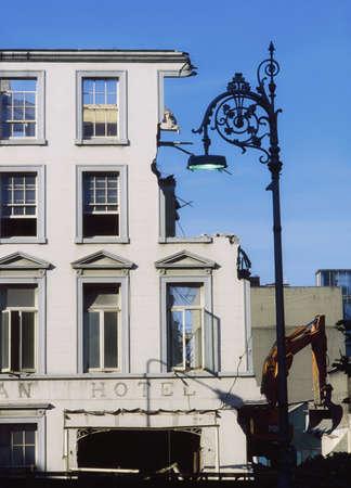 co  meath: Historic Dublin, Demolition of Hibernian Hotel, 1991, Ireland