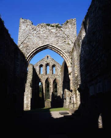 abbeys: Co Down, Grey Abbey, estab. 1193, on Strangford Lough, Ireland