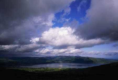 mourne: Co Down, panorama of Mourne Mountains and Carlingford Lough, Ireland Stock Photo