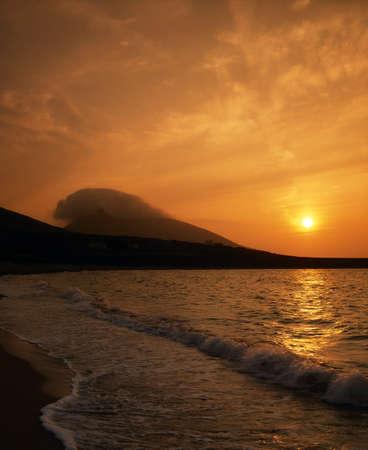 achill: Achill Island, Slievemore from Doogort Beach, Ireland Stock Photo