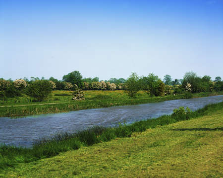 co  meath: Grand Canal at Daingean, Co Offaly, Ireland Stock Photo