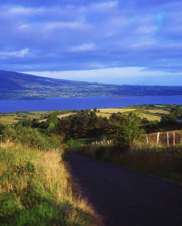 contae: View of County Leitrim and Lough Allen from County Roscommon, Ireland