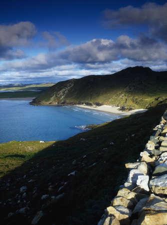 Cliffs at Tranarossan Bay, Co Donegal, Ireland photo