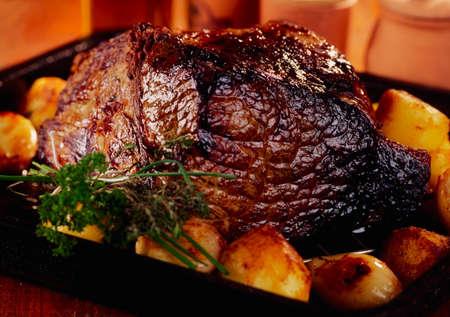 Roast beef & roast potatoes