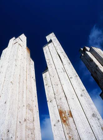 Sculpture from timber piles, Derry Quay, Derry City, Ireland Stock Photo - 7188581